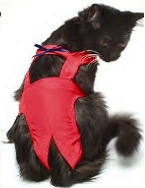 Red Piddle Pants™ For Cats